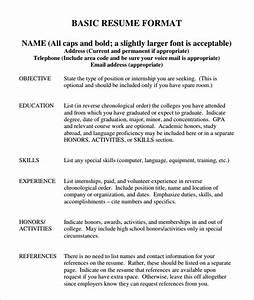 reverse chronological resume format focusing on work history