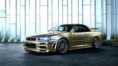 R34 Skyline Nissan 4k Gtr Wallpapers Gold