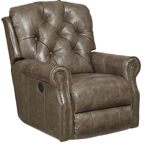 grain leather recliner catnapper davidson top grain leather match rocker recliner