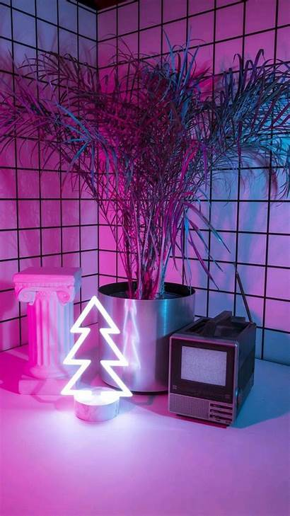 Aesthetic Purple Wallpapers Neon Celular Parede Papel