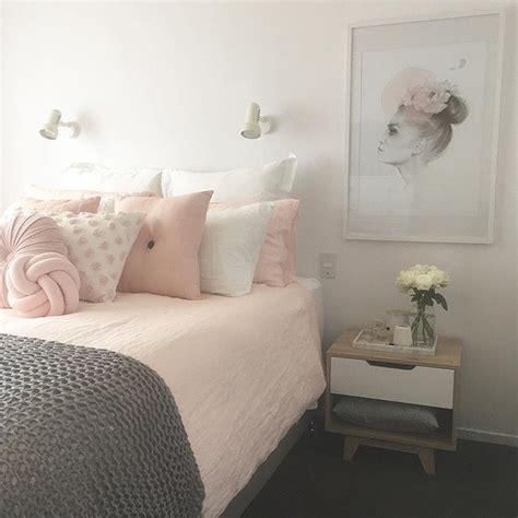 blush pink white  grey pretty bedroom  ivoryandnoir