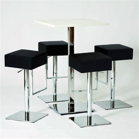 table de bar carr 233 e quot cube quot blanc 70 x 70 cm 841241