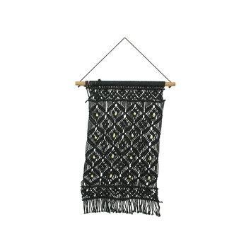 gamma muurdecoratie muurdecoratie textiel zwart 60x35 cm kopen uitverkopen