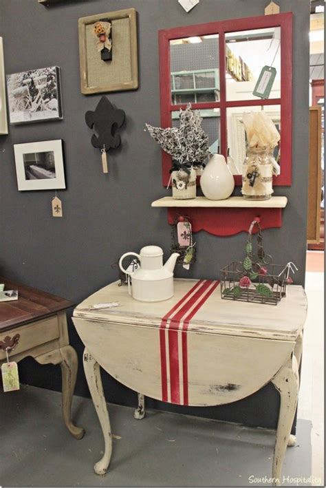 Drop Leaf Table Updated Cottage Style   Southern Hospitality