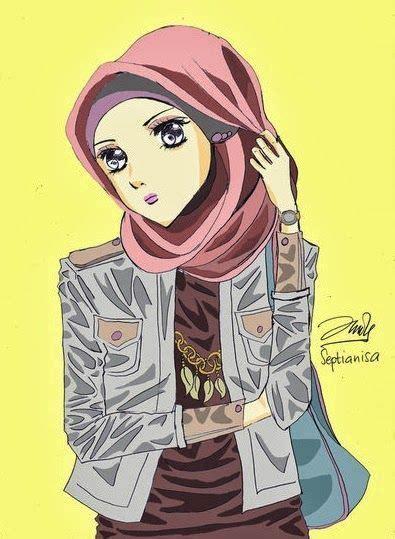 Gambar Wanita Hijab Kartun Lucu Photos Gambar Kartun Muslimah