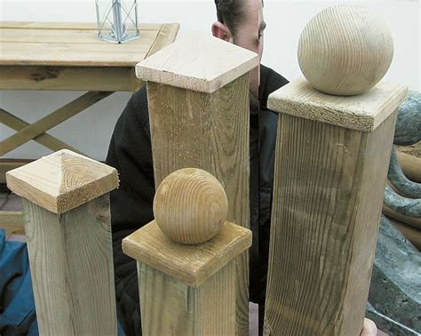 fence post toppers wooden fence post cap 3725