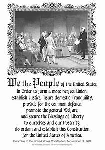 Free Printable Copy Of The Preamble To The Us Constitution