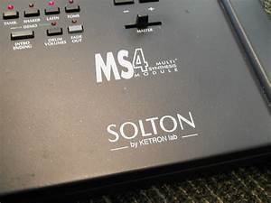 Solton By Ketron Ms4 Multi Synthesis Module  In Box  W  Rom