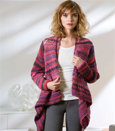 Draped Cardigans For - drape front knit cardigan allfreeknitting