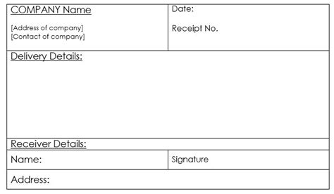 delivery receipt template 10 free sle goods delivery receipt templates printable sles