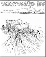 Coloring Trail Pages Oregon Gold Drawing Westward Rush Pioneer Wagon Sheets Expansion Covered Printable Ho Tears Google Activity Horse Sketch sketch template