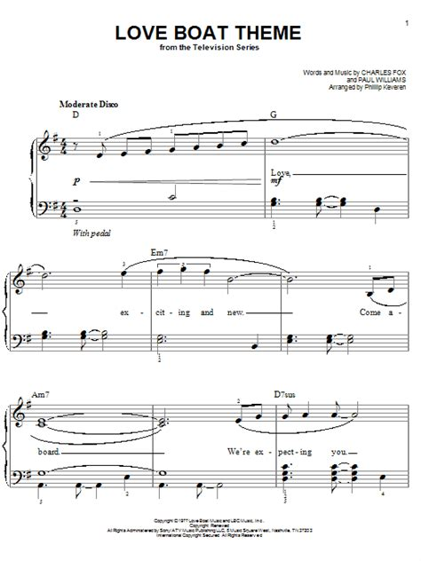 Theme Song Of Love Boat by Love Boat Theme Sheet Music Direct