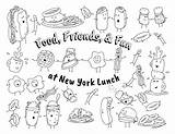 Coloring Pages Menu Restaurant Template Lunch York sketch template