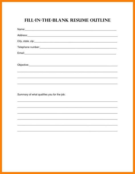 12 blank cv to fill in produce clerk