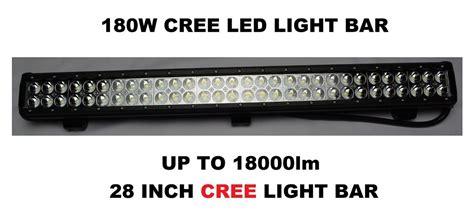 12v 24v 180w 14400lm 28 inch cree led work bar flood light