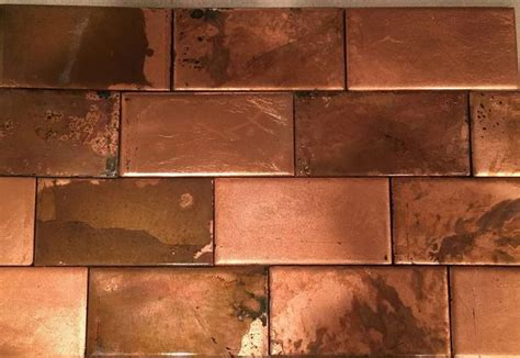 copper ceramic tiles   copper tile backsplash