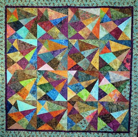 Bed Quilts For Sale by Bright Batik Scrappy Quilt Quilts For Sale Scrappy