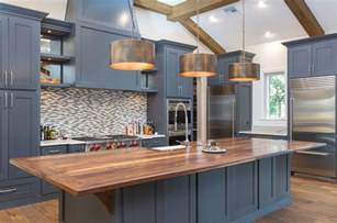 kitchen island countertop overhang 25 blue and white kitchens design ideas designing idea