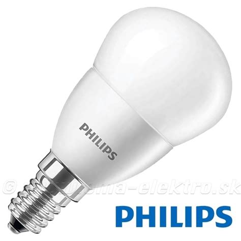 Led Len E14 by Led žiarovka 5 5w E14 230v Philips Ww Gulička M E M A
