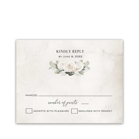 RSVP Cards for Weddings Bohemian Greenery and Florals