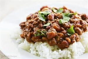 Chili Beans with Rice Recipe SimplyRecipes com