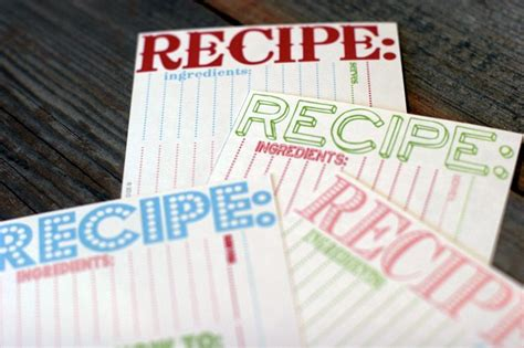 cookie swap recipe cards   sweetest occasion