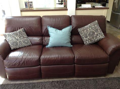 lay z boy sofa lay z boy full leather sofa parksville parksville