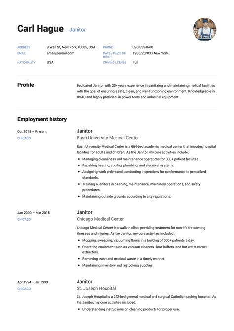 Janitor Responsibilities Resume by Guide Janitor Resume Exle 12 Sles Pdf