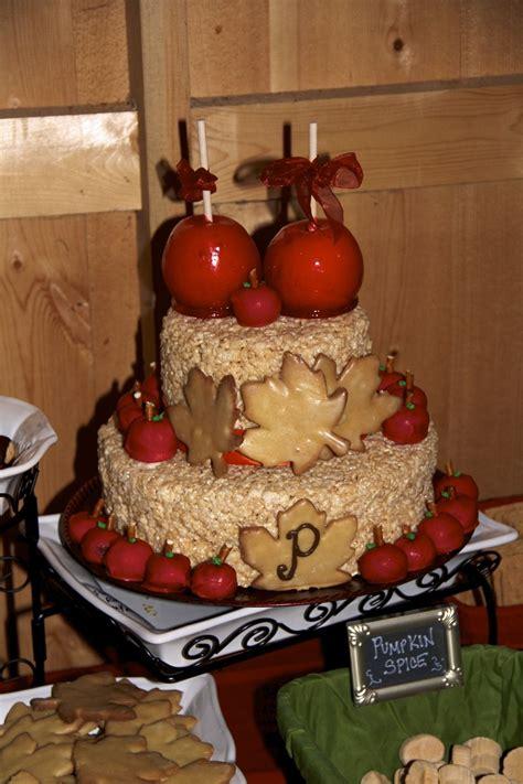 Rice Krispie Candy Apple Wedding Cake Yummy Foods