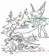 Coloring Pages Disney Tinkerbell Friends Characters Kentscraft Cartoon sketch template