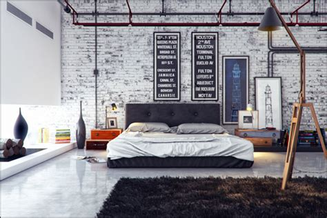 industrial small bedroom ideas 21 industrial bedroom designs decoholic Industrial Small Bedroom Ideas