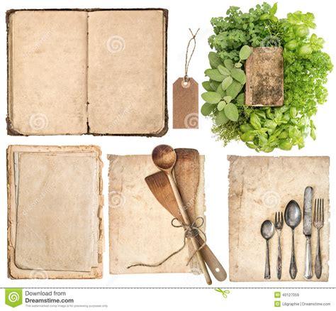 vieux ustensiles de cuisine ustensiles de cuisine vieux livre de cuisine pages et