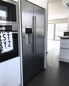 Küche Mit Side By Side Kühlschrank : side by side k hlschrank in schr nke integrieren k che ~ Frokenaadalensverden.com Haus und Dekorationen