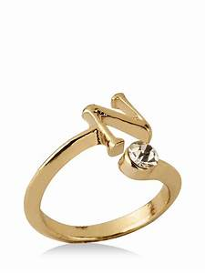 buy koovs initial ring n letters for women women39s gold With n letter ring