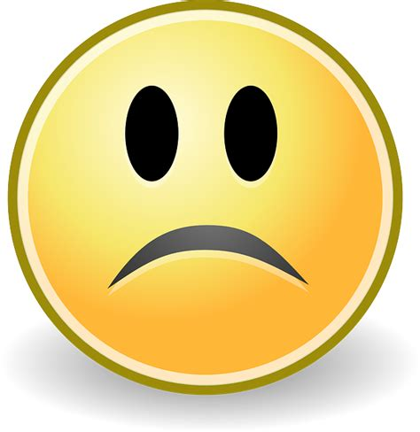 Sad Emoji Clipart Free