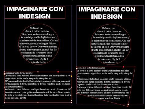Cornici Per Testo Il Testo Con Adobe Indesign Tutorial
