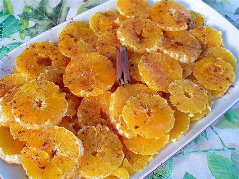 dessert avec des oranges dessert typique du maroc orange cannelle