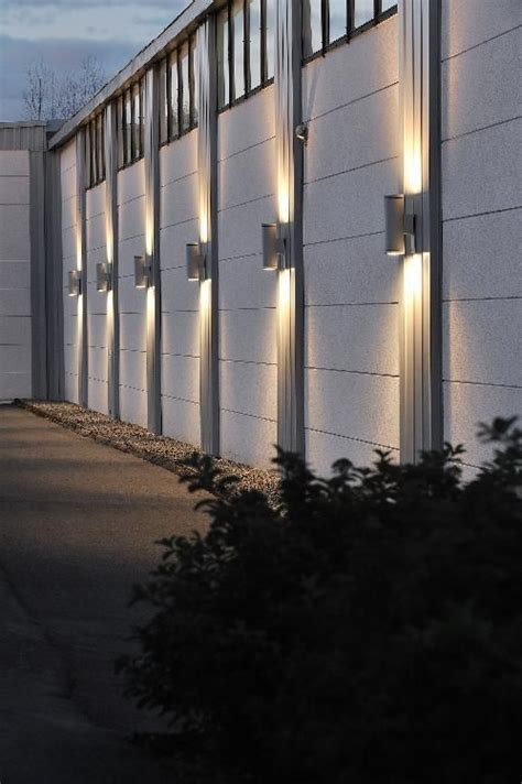exterior outdoor wall light up and light facade