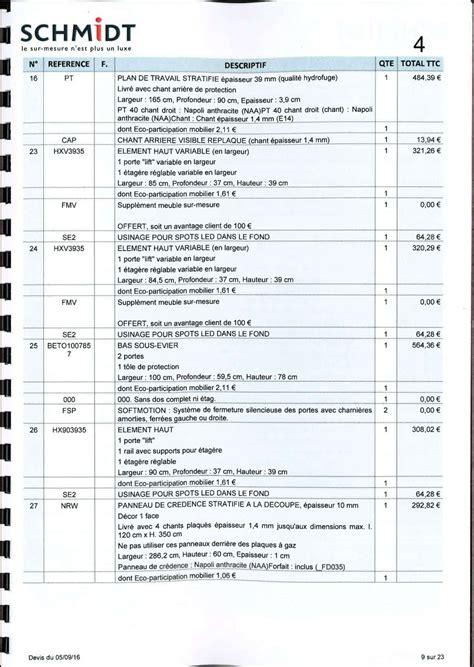 tarif cuisine schmidt avis sur implantation et tarif cuisine schmidt 37