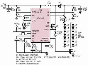 Led Dimmer Schaltung : 50w white led automotive headlamp driver circuit collection analog devices ~ Eleganceandgraceweddings.com Haus und Dekorationen