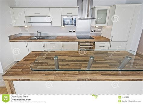 Contemporary Kitchen With Breakfast Bar Royalty Free Stock