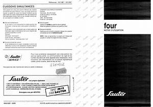 Notice Four Sauter : notice four sauter 1611mc et pi ces d tach es thermostat grille moteur joint resistance ~ Dallasstarsshop.com Idées de Décoration
