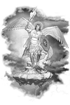 Image result for st michael statue tattoo drawing | Archangel michael tattoo, St michael tattoo