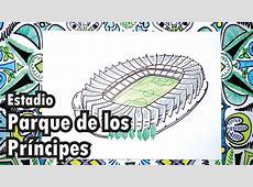 Dibuja el estadio Parque de los Príncipes de Paris