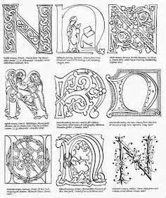 1000 images about alphabet illumination on pinterest With illuminated alphabet templates