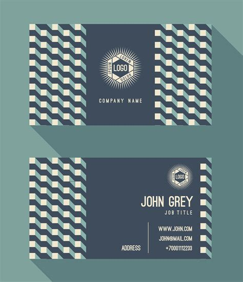 business card template vintage retro background