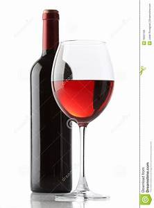 Glass Of Red Wine And A Bottle Stock Photo - Image of ...