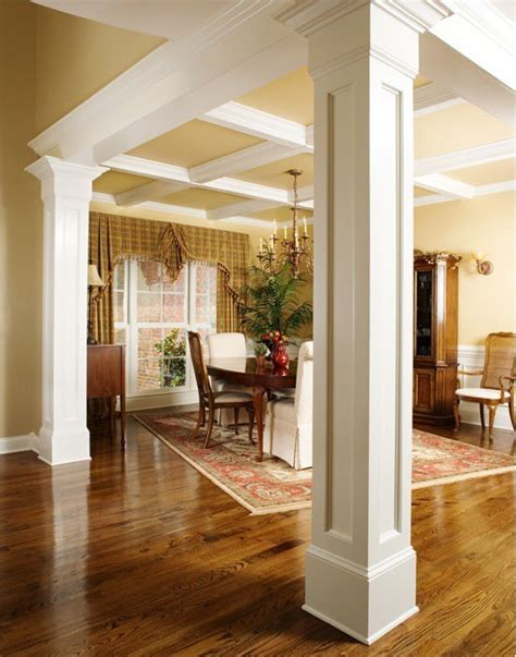 how to decorate a column i love how they use columns to separate the dining room home pinterest columns room and