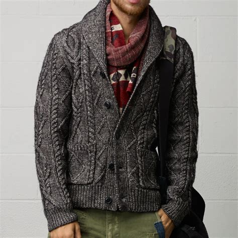 cable sweater mens fancy cable knit cardigan by ralph denim supply