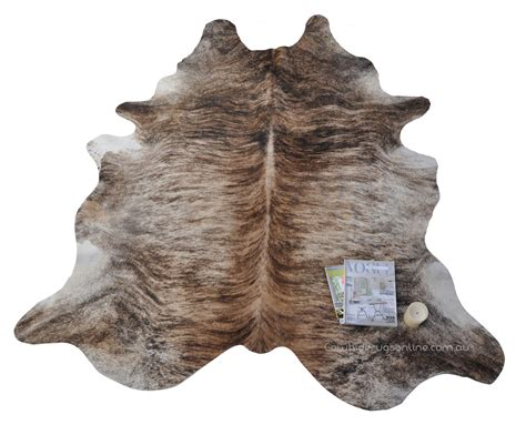 Light Exotic Cream Tan Cowhide Leather Rug 9 Www